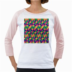 Background Geometric Triangle Girly Raglans
