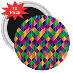 Background Geometric Triangle 3  Magnets (10 Pack)
