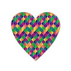 Background Geometric Triangle Heart Magnet by Nexatart