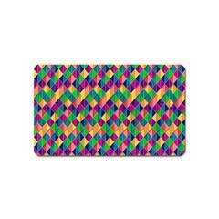 Background Geometric Triangle Magnet (name Card)
