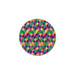 Background Geometric Triangle Golf Ball Marker