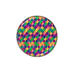 Background Geometric Triangle Hat Clip Ball Marker (4 Pack)