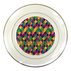 Background Geometric Triangle Porcelain Plates