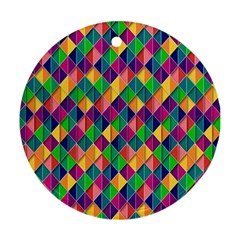 Background Geometric Triangle Round Ornament (two Sides)