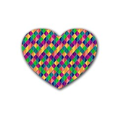 Background Geometric Triangle Heart Coaster (4 Pack)