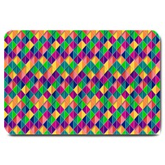 Background Geometric Triangle Large Doormat