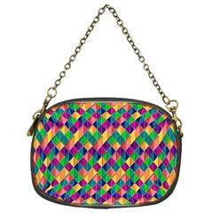 Background Geometric Triangle Chain Purses (one Side)