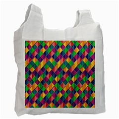 Background Geometric Triangle Recycle Bag (two Side)