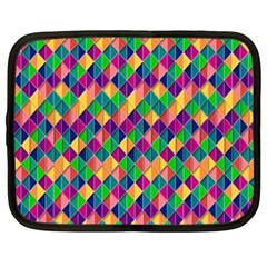 Background Geometric Triangle Netbook Case (xxl)