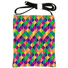 Background Geometric Triangle Shoulder Sling Bags by Nexatart