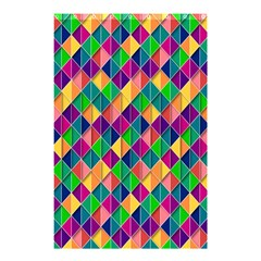 Background Geometric Triangle Shower Curtain 48  X 72  (small)  by Nexatart