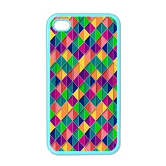 Background Geometric Triangle Apple Iphone 4 Case (color)