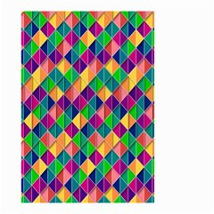 Background Geometric Triangle Small Garden Flag (two Sides)