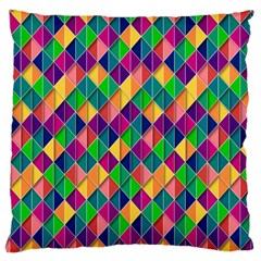 Background Geometric Triangle Large Cushion Case (two Sides)