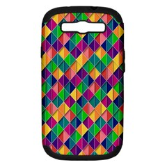 Background Geometric Triangle Samsung Galaxy S Iii Hardshell Case (pc+silicone)