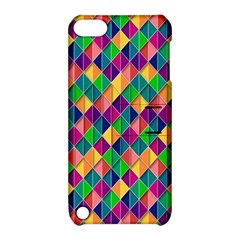 Background Geometric Triangle Apple Ipod Touch 5 Hardshell Case With Stand