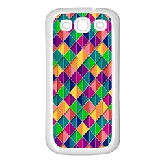 Background Geometric Triangle Samsung Galaxy S3 Back Case (white)