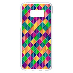 Background Geometric Triangle Samsung Galaxy S8 Plus White Seamless Case