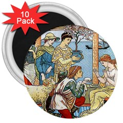 Vintage Princess Prince Old 3  Magnets (10 Pack)