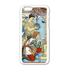 Vintage Princess Prince Old Apple Iphone 6/6s White Enamel Case