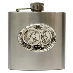Young Old Man Weird Funny Hip Flask (6 Oz)