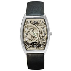 Young Old Man Weird Funny Barrel Style Metal Watch