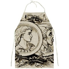 Young Old Man Weird Funny Full Print Aprons