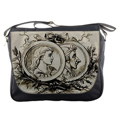 Young Old Man Weird Funny Messenger Bags