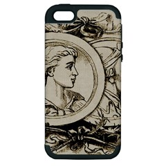 Young Old Man Weird Funny Apple Iphone 5 Hardshell Case (pc+silicone)