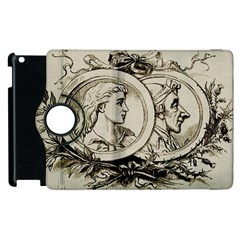 Young Old Man Weird Funny Apple Ipad 2 Flip 360 Case