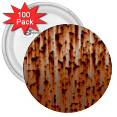 Stainless Rusty Metal Iron Old 3  Buttons (100 Pack)