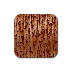 Stainless Rusty Metal Iron Old Rubber Coaster (square)