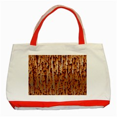 Stainless Rusty Metal Iron Old Classic Tote Bag (red)