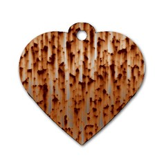 Stainless Rusty Metal Iron Old Dog Tag Heart (one Side)