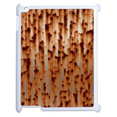 Stainless Rusty Metal Iron Old Apple Ipad 2 Case (white)