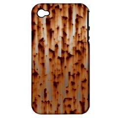 Stainless Rusty Metal Iron Old Apple Iphone 4/4s Hardshell Case (pc+silicone)