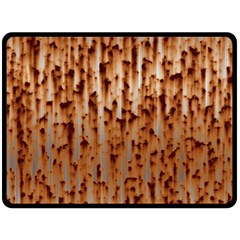 Stainless Rusty Metal Iron Old Double Sided Fleece Blanket (large)