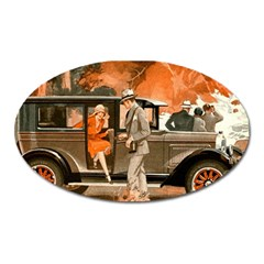Car Automobile Transport Passenger Oval Magnet