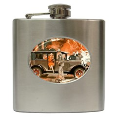 Car Automobile Transport Passenger Hip Flask (6 Oz)