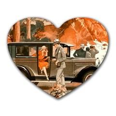 Car Automobile Transport Passenger Heart Mousepads
