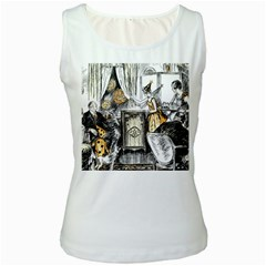 Vintage People Party Celebrate Women s White Tank Top