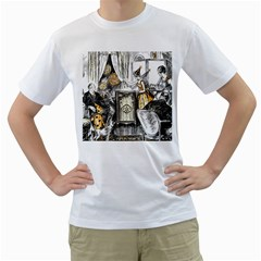 Vintage People Party Celebrate Men s T Shirt (white) (two Sided)