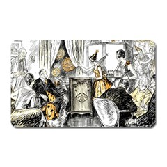 Vintage People Party Celebrate Magnet (rectangular)