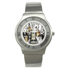 Vintage People Party Celebrate Stainless Steel Watch