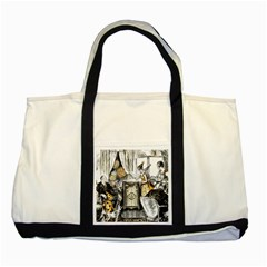 Vintage People Party Celebrate Two Tone Tote Bag