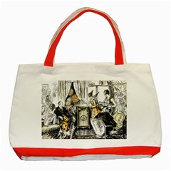 Vintage People Party Celebrate Classic Tote Bag (red)