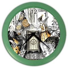 Vintage People Party Celebrate Color Wall Clocks