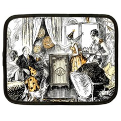 Vintage People Party Celebrate Netbook Case (xl)