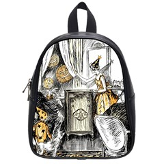 Vintage People Party Celebrate School Bag (small)
