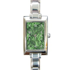 Green Geological Surface Background Rectangle Italian Charm Watch